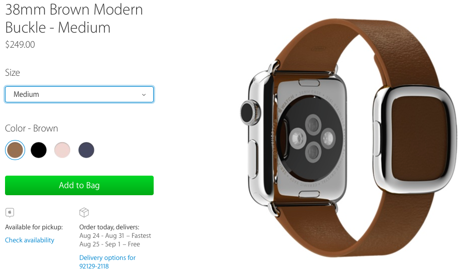 Apple Watch 38mm Modern Buckle web screenshot 001