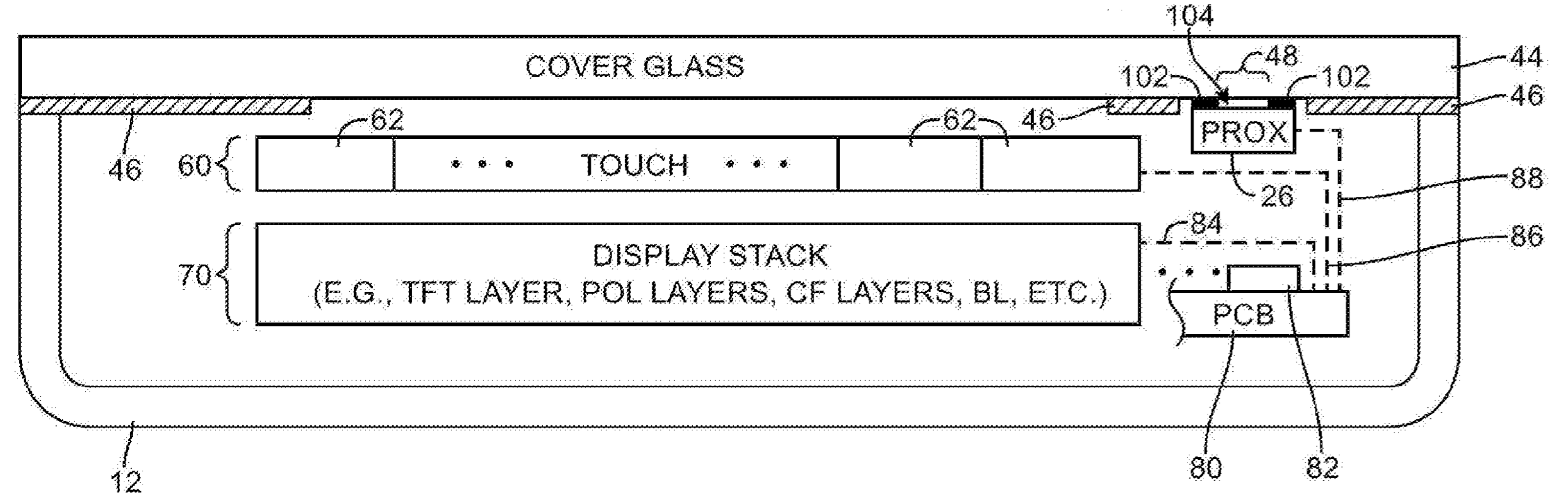 Apple patent smudge detection proximity sensor drawing 003
