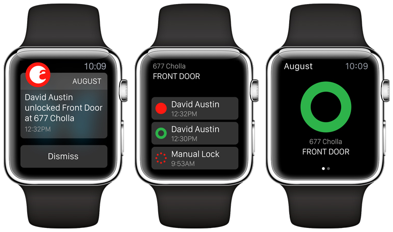 Captura de pantalla 001 de August Smart Lock 2.1 para iOS Apple Watch