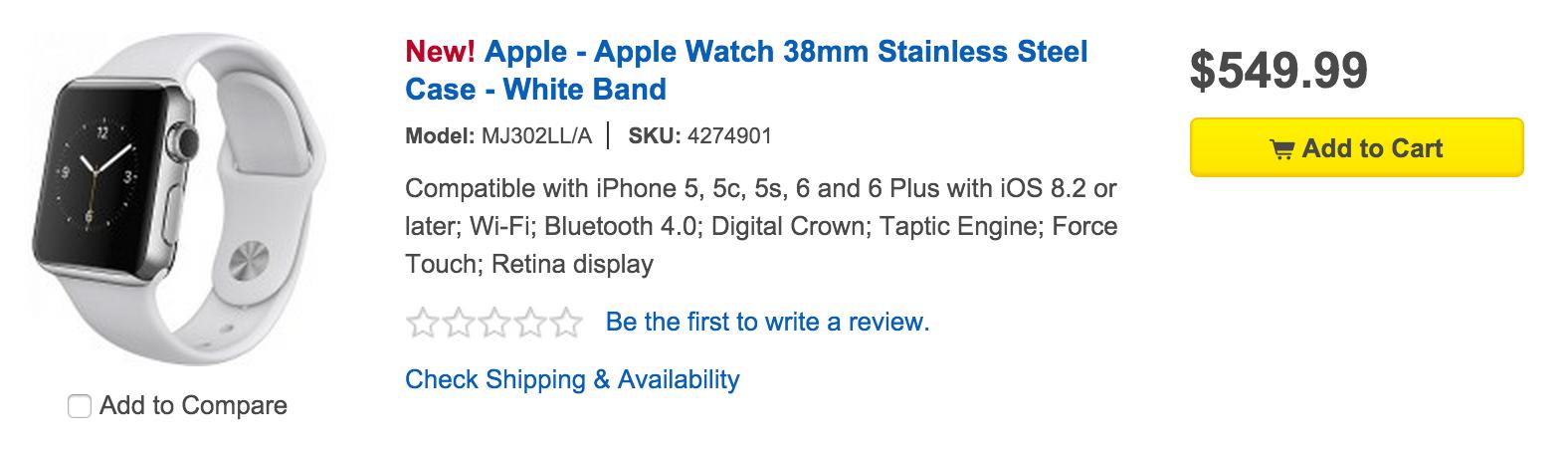 Best Buy Apple Watch Sales