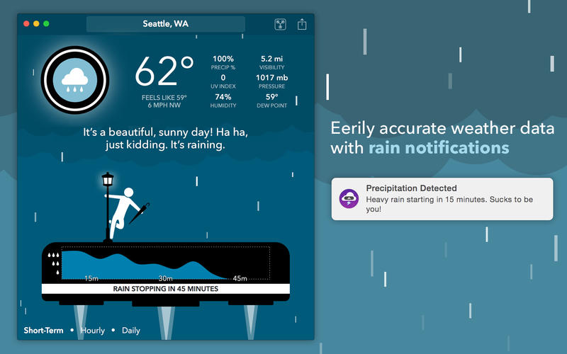 CARROT Weather 1.0 for OS X Mac screenshot 002