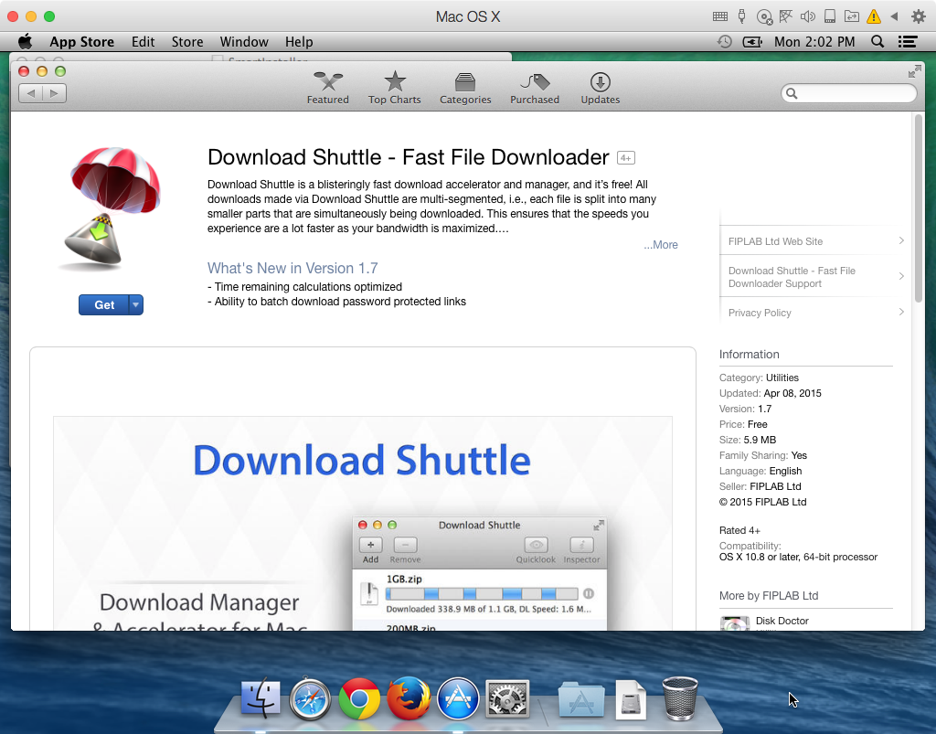 Download Shuttle on Mac App Store screenshot 001