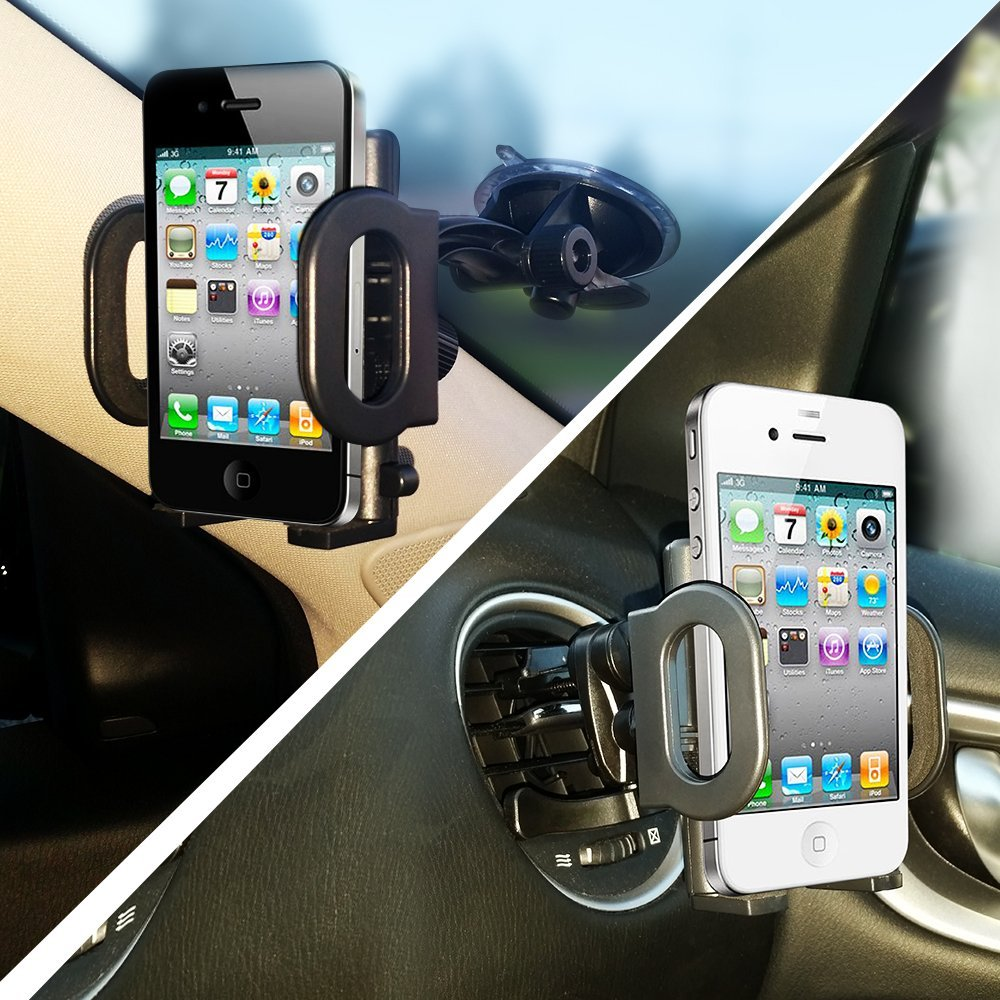 Smartphone Wallpaper Car: Easy-Tech 2-in-1 Car Mount Gives You Choices When Securing