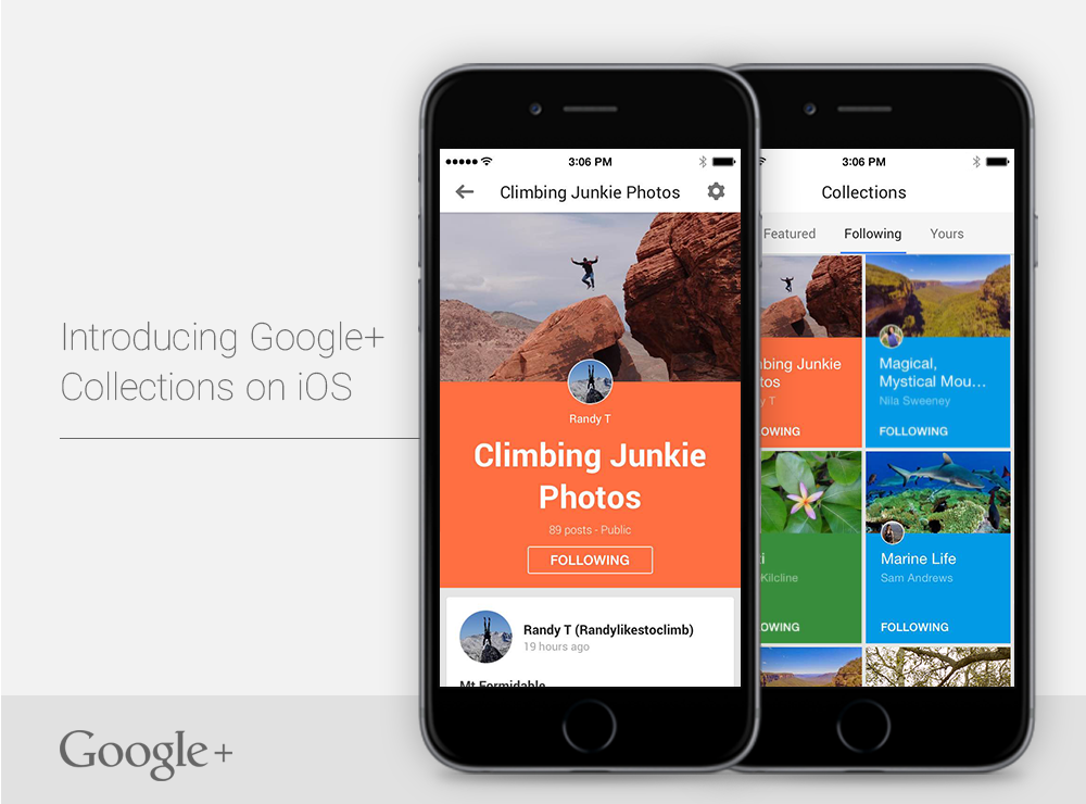 Google Plus Collections for iOS teaser 001