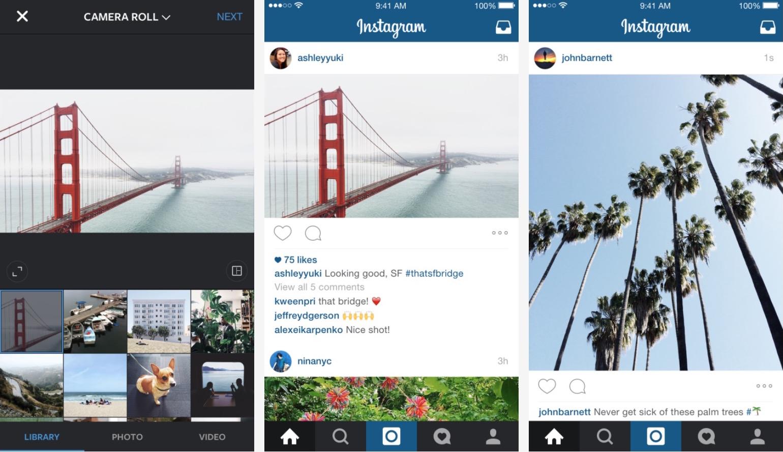 Retrato de paisaje de Instagram