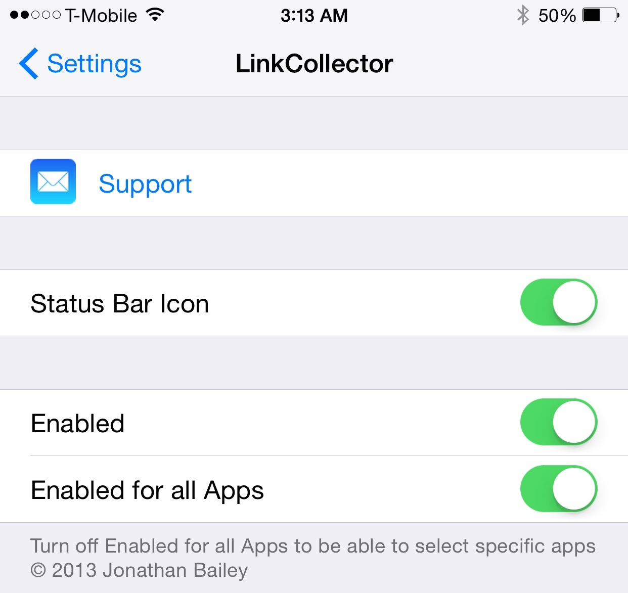 LinkCollector prefs
