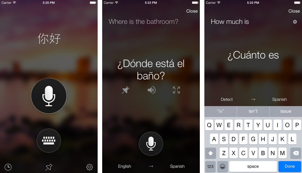 Microsoft Translator 1.0 for iOS iPhone screenshot 001