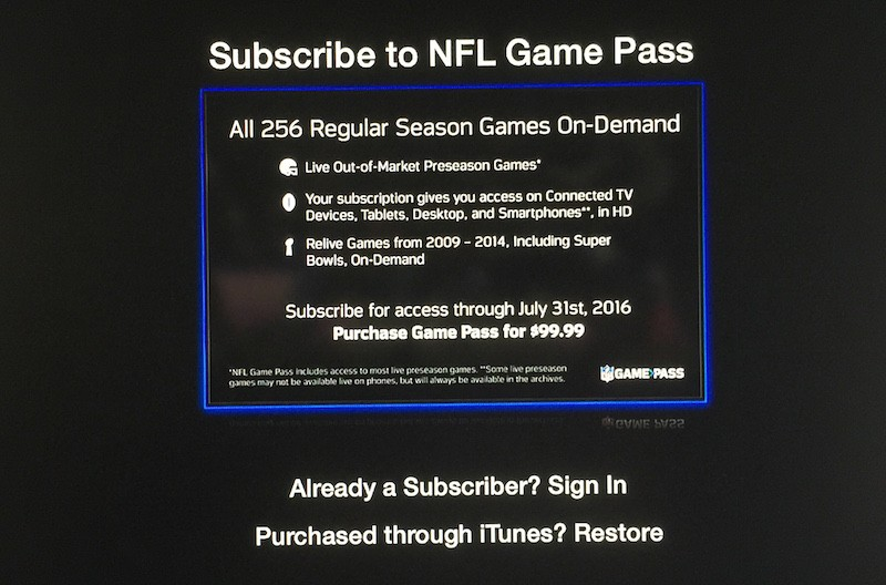 NFL Now Games Pass Apple TV image 002