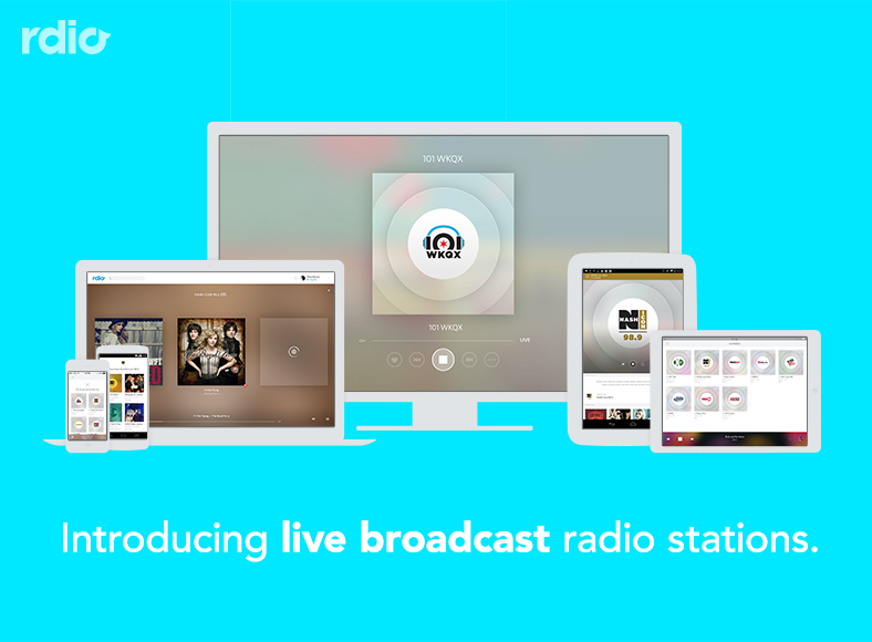 Rdio live broadcast radio stations teaser 001