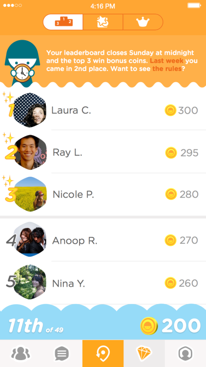 Swarm 3.0 for iOS leaderboards iPhone screenshot 001