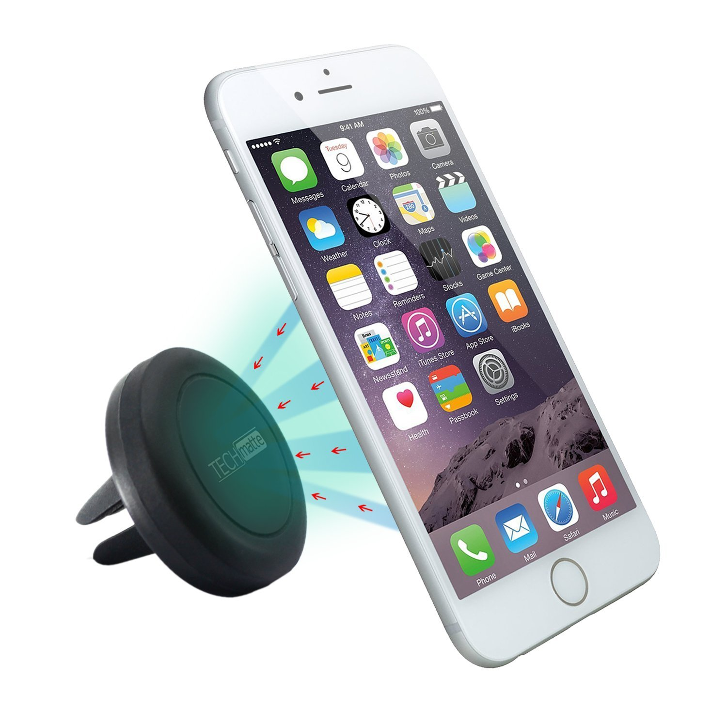 Techmatte Maggrip Air Vent Mount Is A Cradle Less Holder