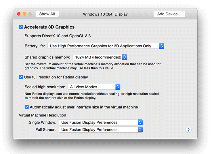 VMware Fusion 8 Mac screenshot 001