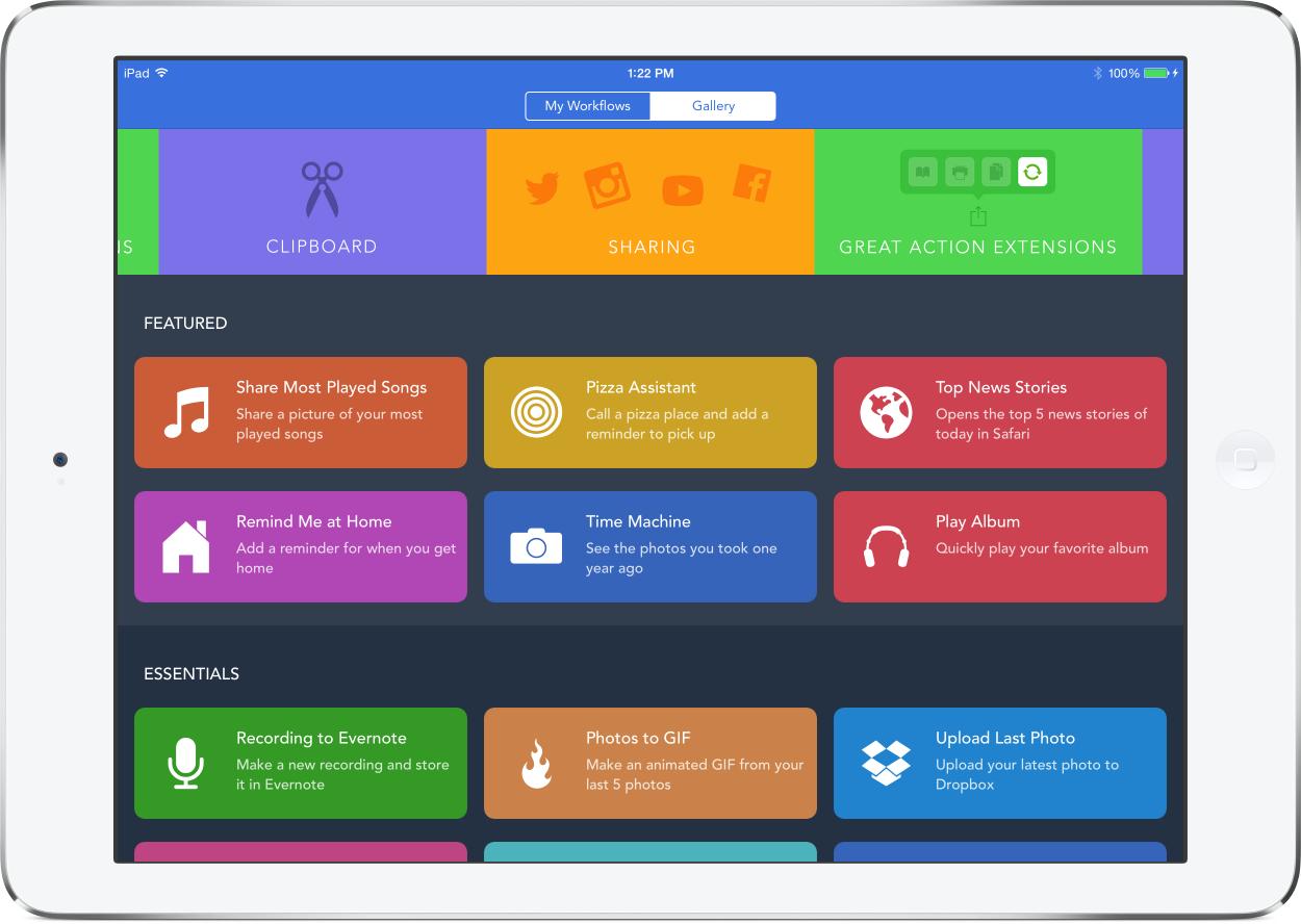 Workflow 1.3 for iOS iPad screenshot 001