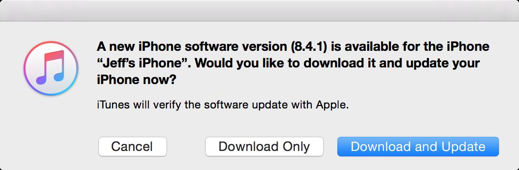 iOS 8.4.1 update 2