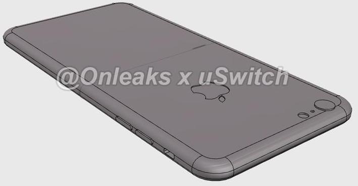 iPhone 6s CAD render OnLeaks 003