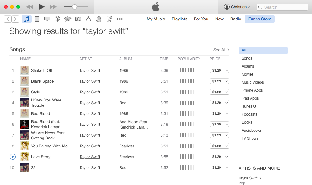 iTunes Store links to Apple Music screenshot 003