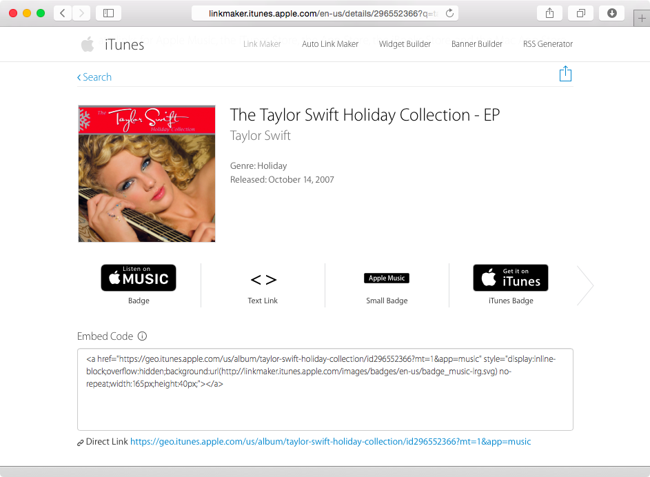 iTunes Store links to Apple Music screenshot 005