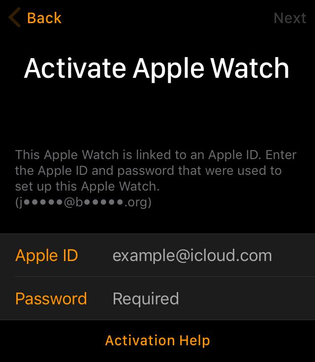 Activation Lock Apple Watch watchOS 2