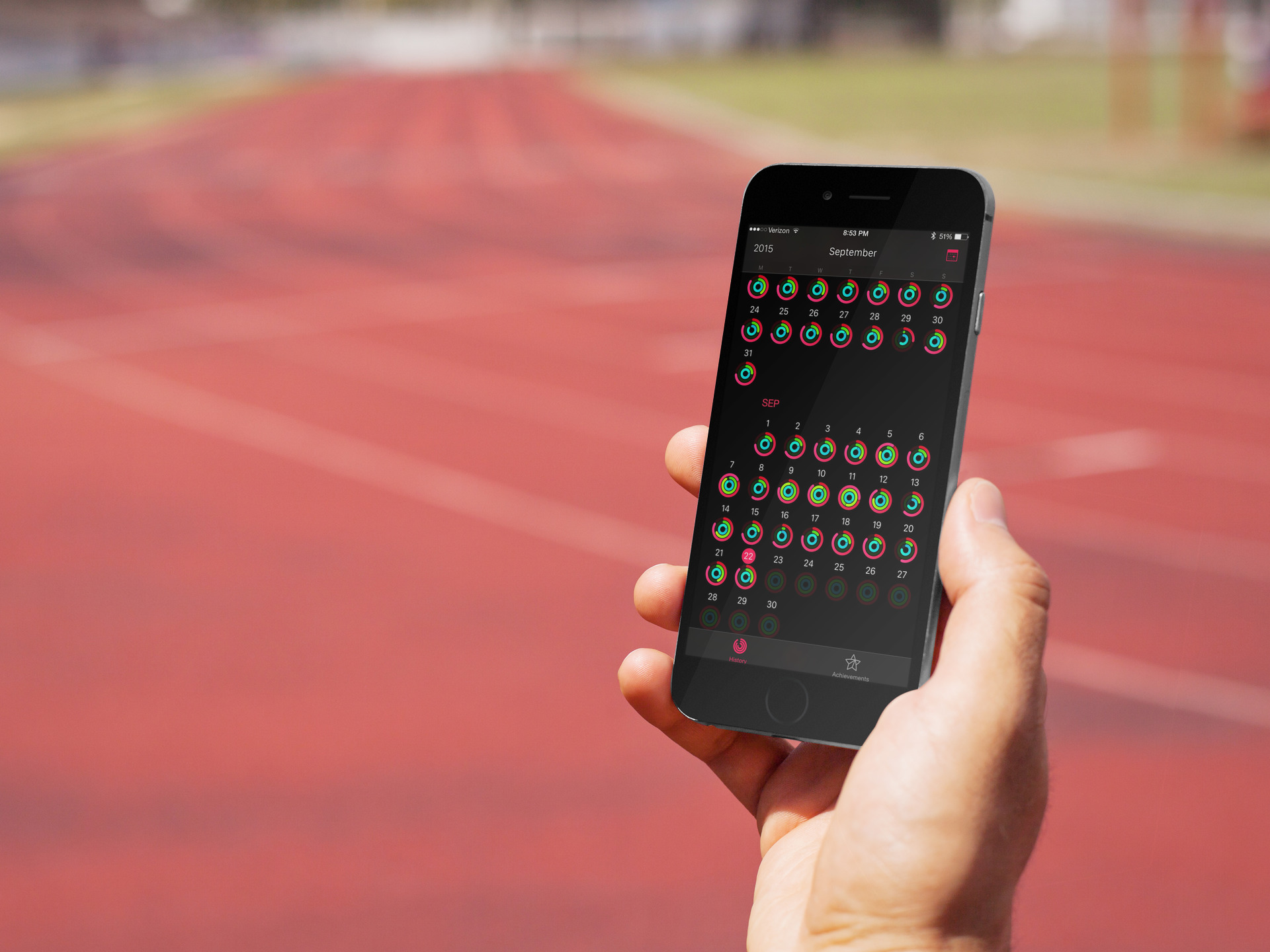 Activity App on a Track