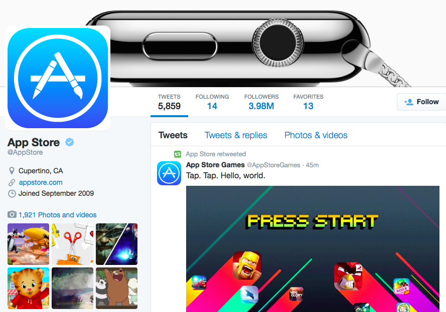 App Store Games on Twitter web screenshot 001
