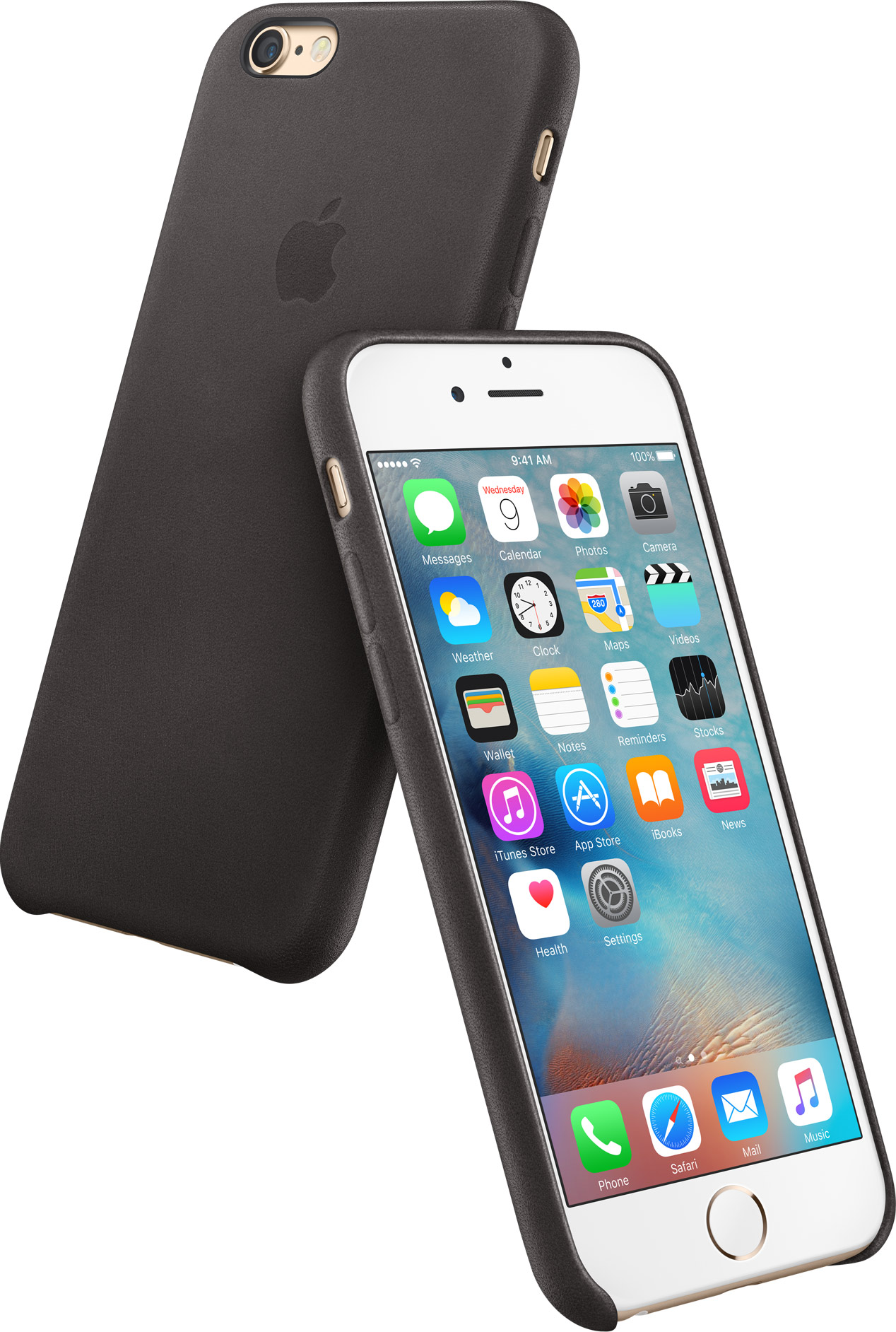 Apple Leather Case Black iPhone 6s image 001