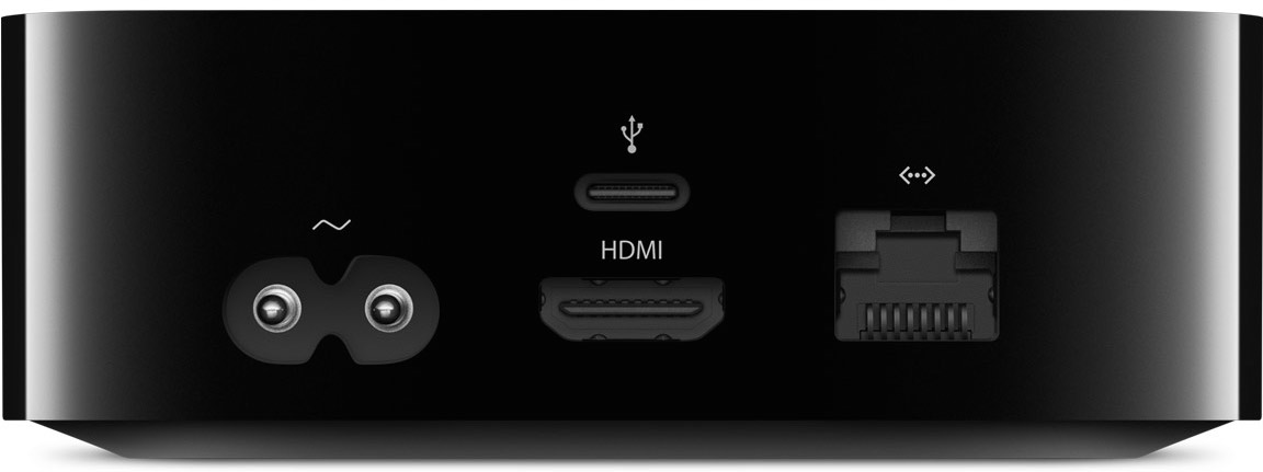 Apple TV 4 ports and interfaces back 001