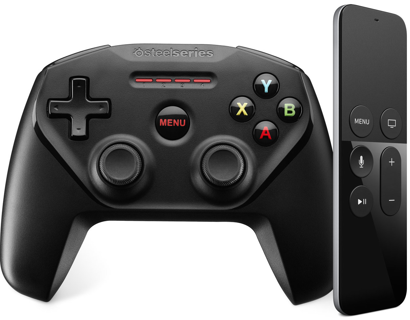 Apple TV Siri Remote SteelSeries game controller