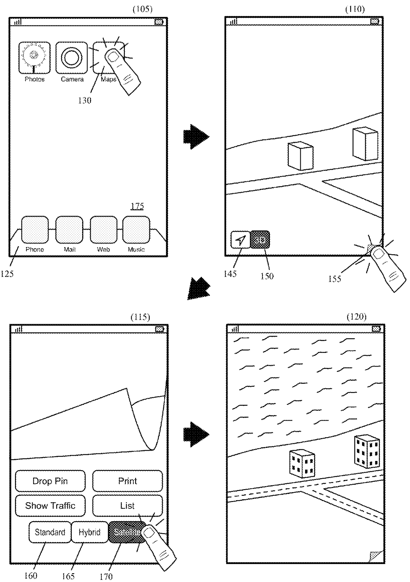 Apple patent animated Maps drawing 002
