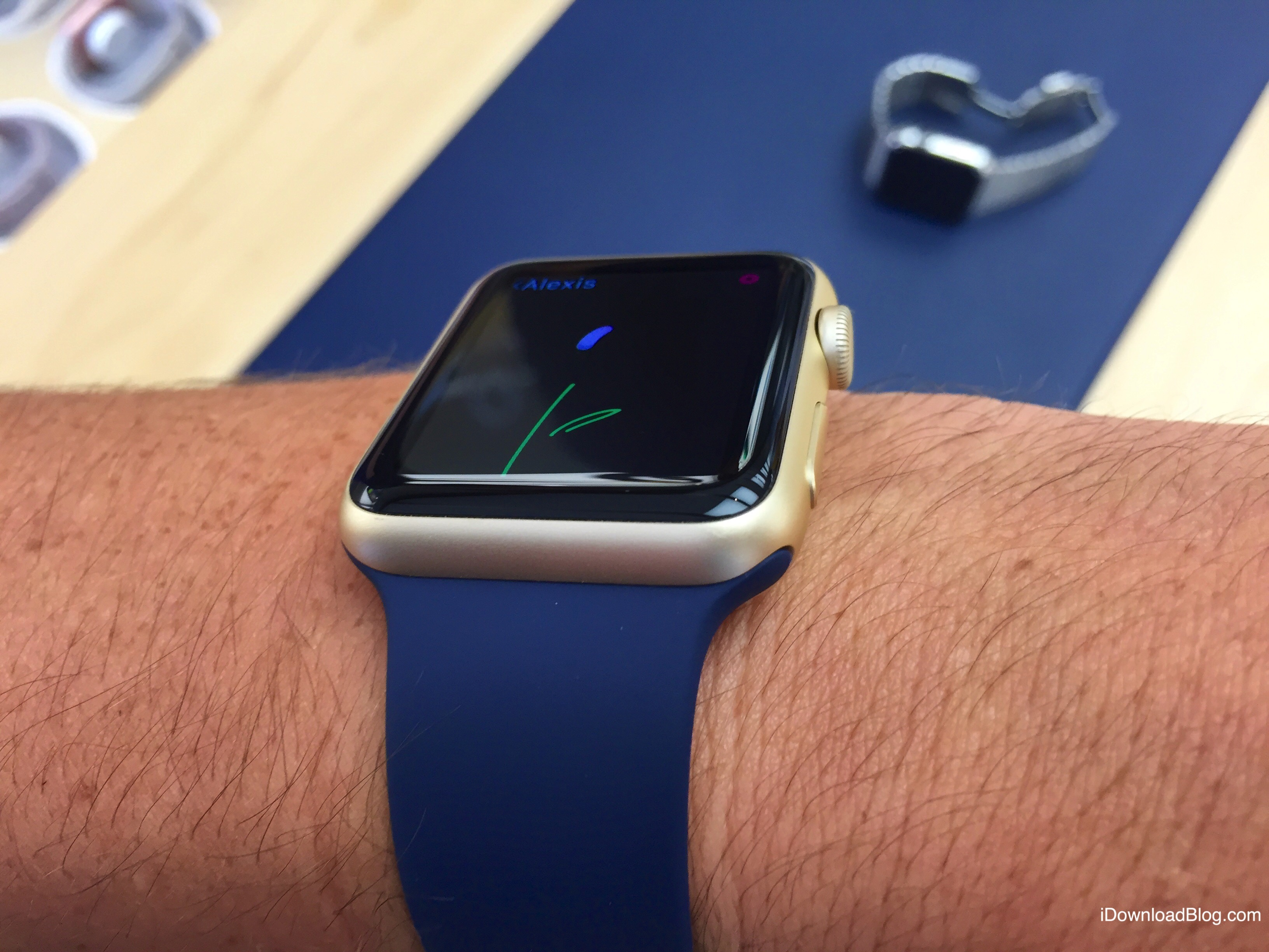 Gold Aluminum Apple Watch Hands on 3