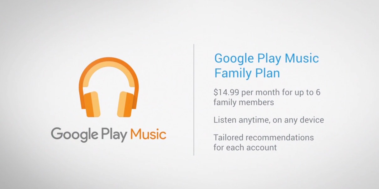 Google Play Music Family plan image 001