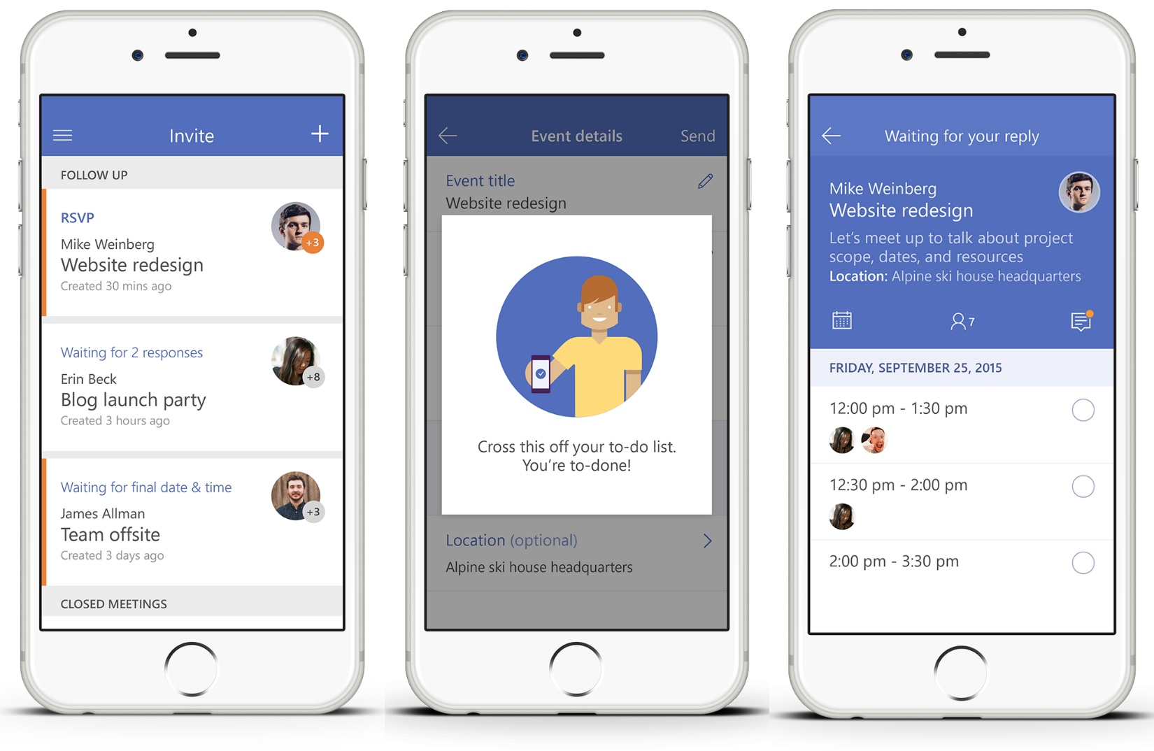 Microsoft Invite 1.0 for iOS iPhone screenshot 001