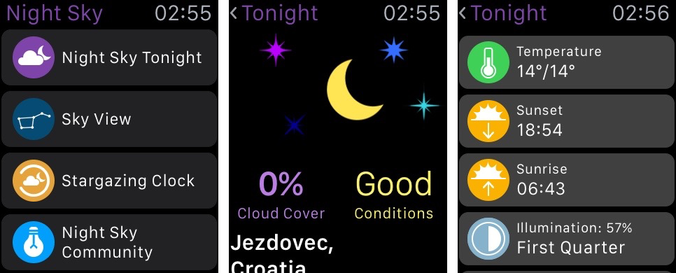 Night Sky for iOS Apple Watch screenshot 002