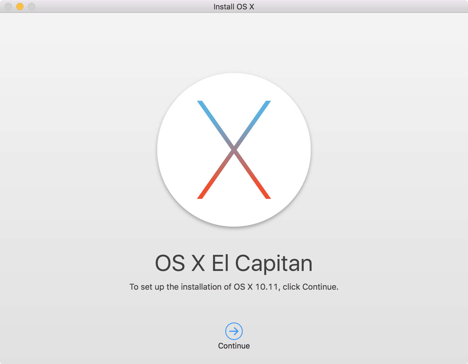 OS X El Capitan Installer