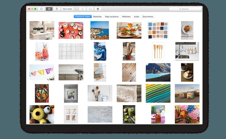 OS X El Capitan Notes Attachments Browser image 001
