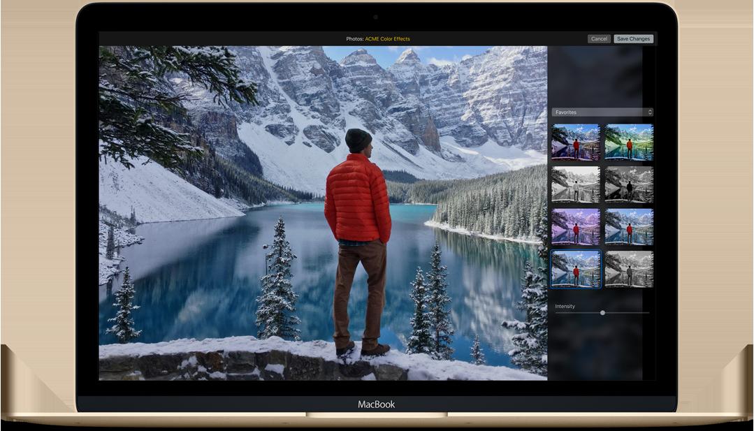 OS X El Capitan Photos Editing extensions image 001