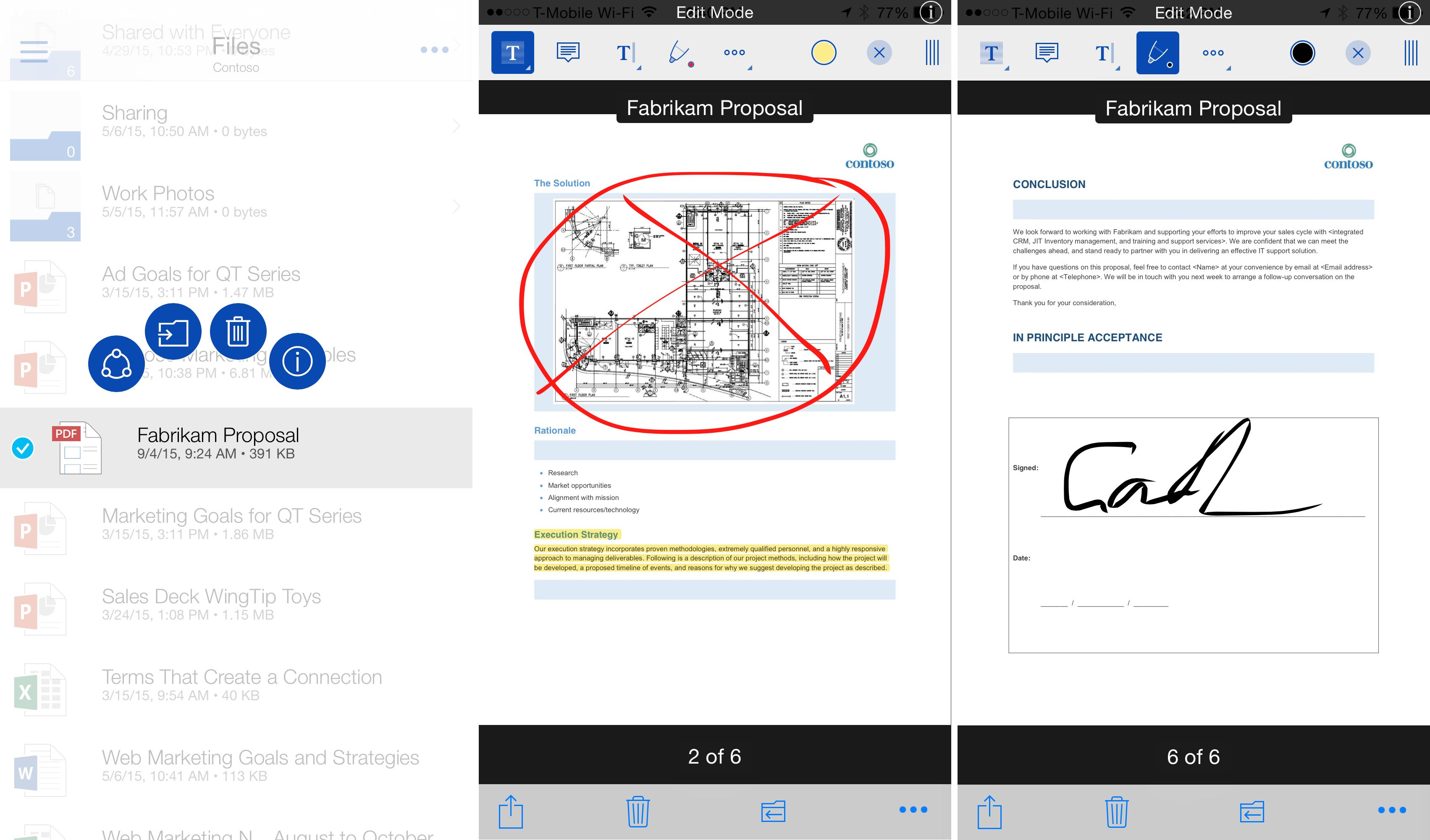 OneDrive 6.0.1 for iOS iPhone screenshot 001