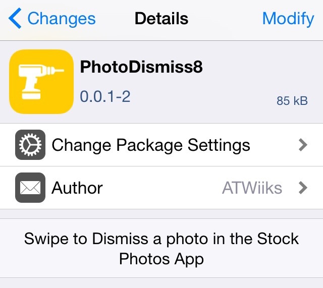 PhotoDismiss8 Preferences
