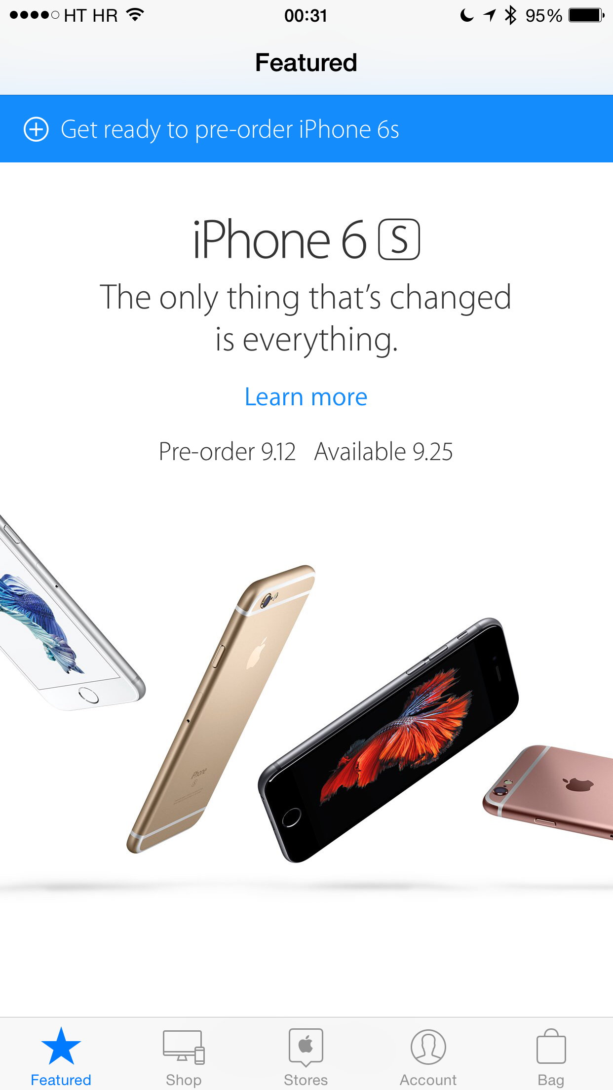 Preorder iPhone 6s Apple Store app screenshot 001