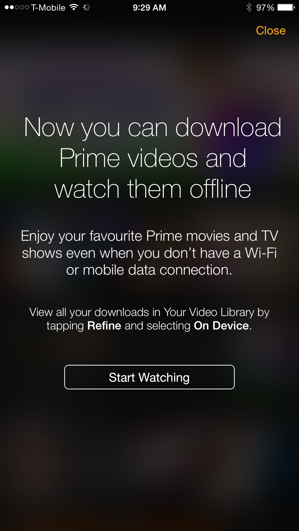 Prime videos watch offline