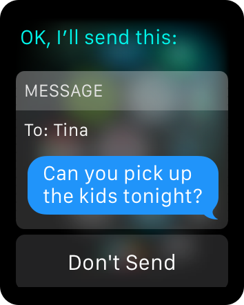Send message hands free watchos 2