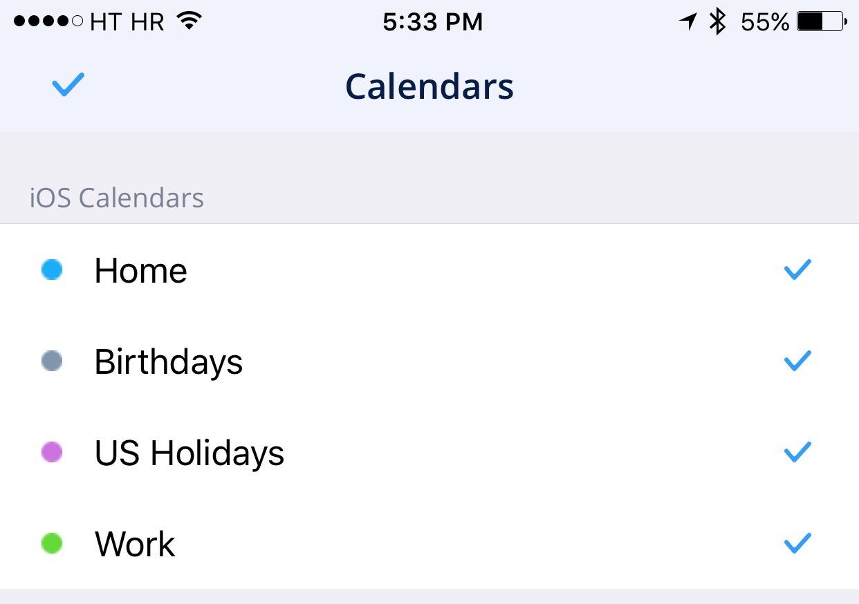 Captura de pantalla del iPhone 004 para Spark 1.2 for iOS Calendars