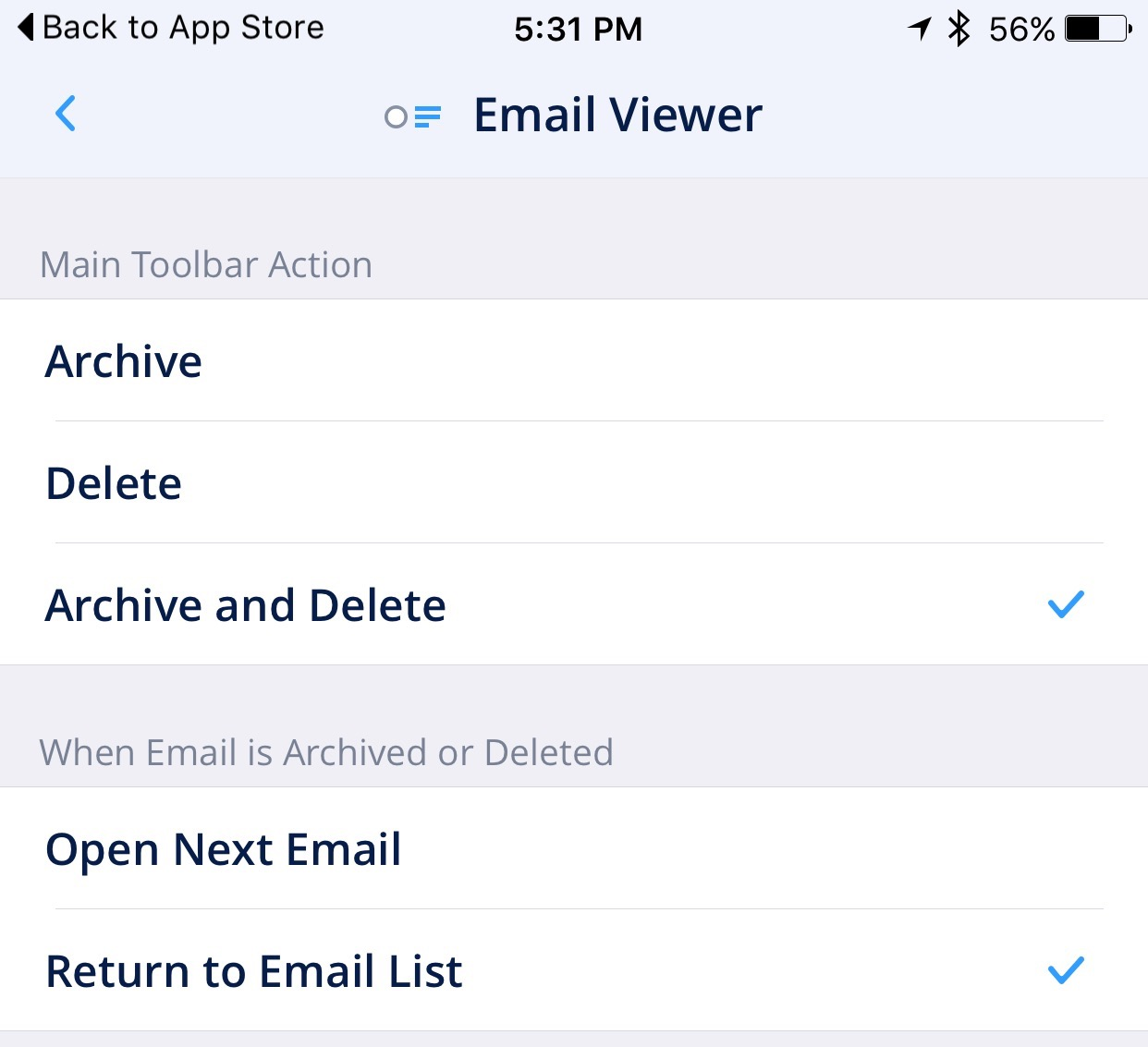 Captura de pantalla 003 del iPhone Flujo de trabajo de correo electrónico Spark 1.2 para iOS