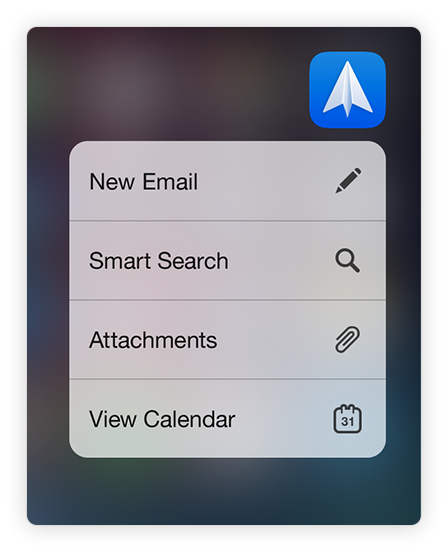 Spark for iOS 3D Actions