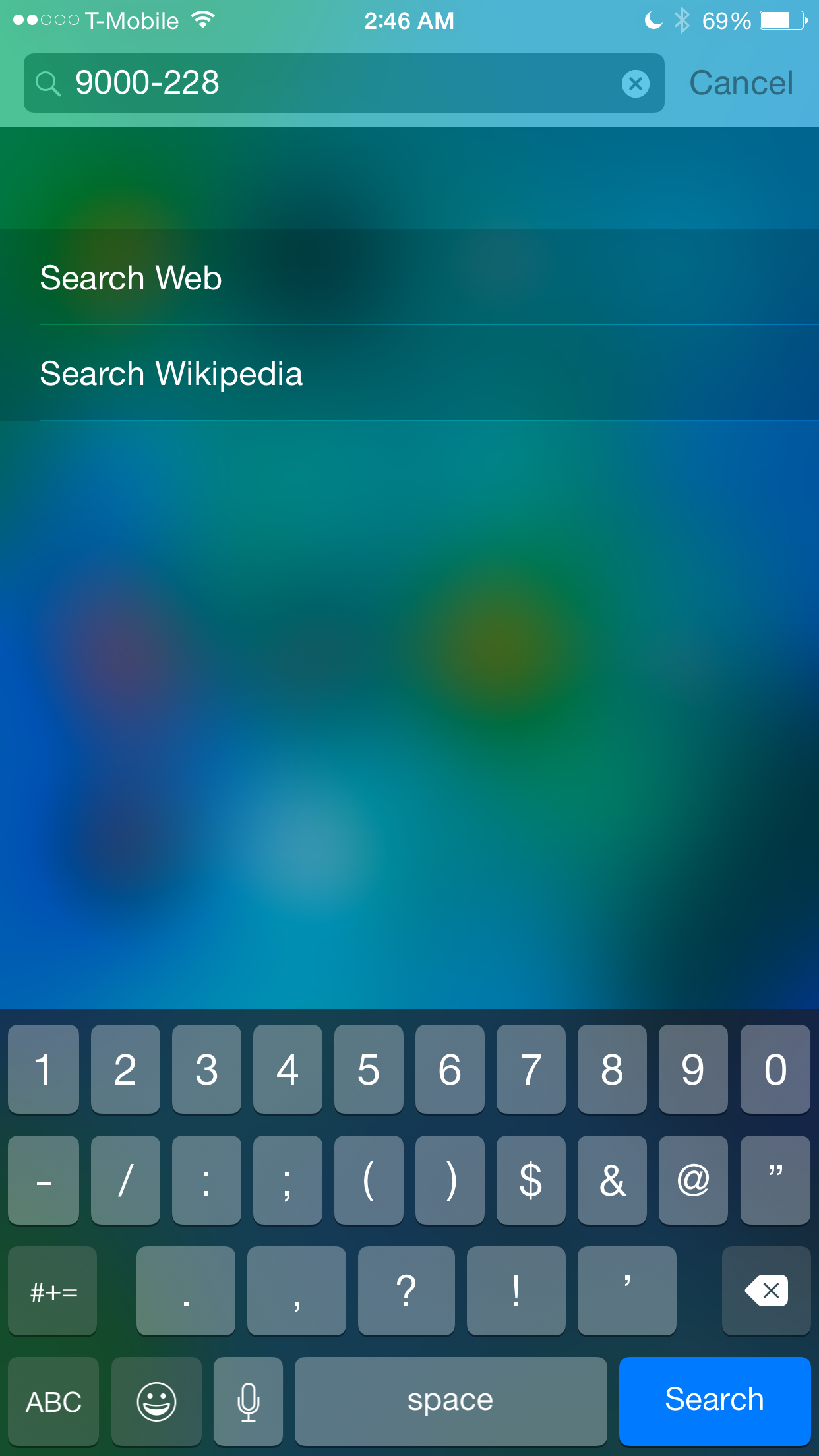 Spotlight iOS 8 Math