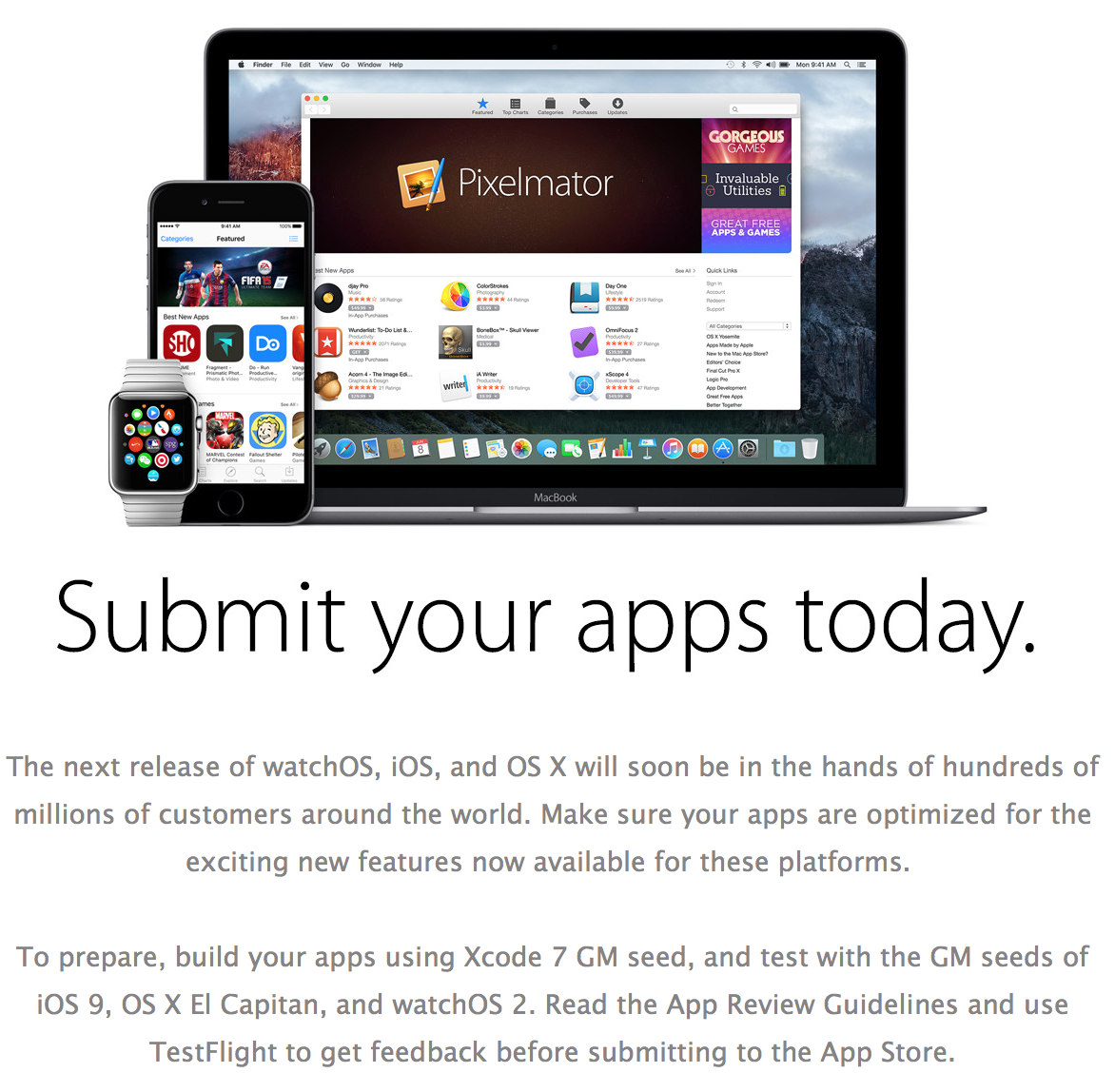 Submit your apps today