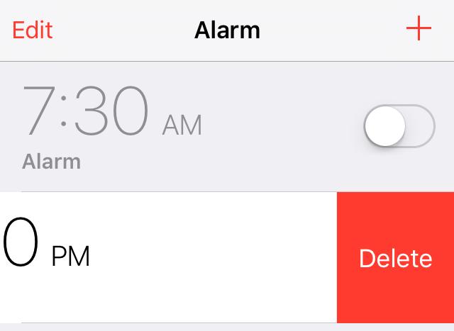 Swipe to Delete iOS 9