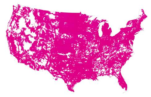 T-Mobile coverage map September 2015
