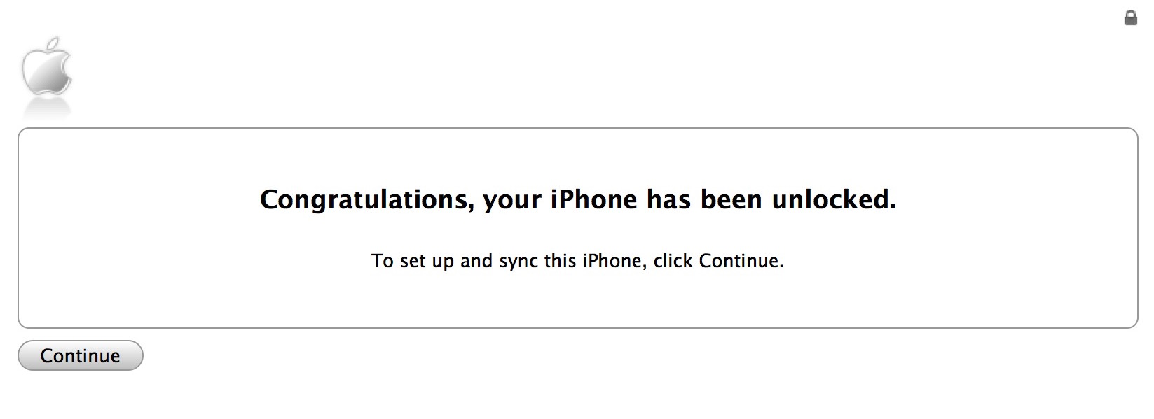 Congratulations your iPhone has been unlocked