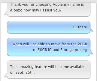 iCloud Storage Pricing September 25th