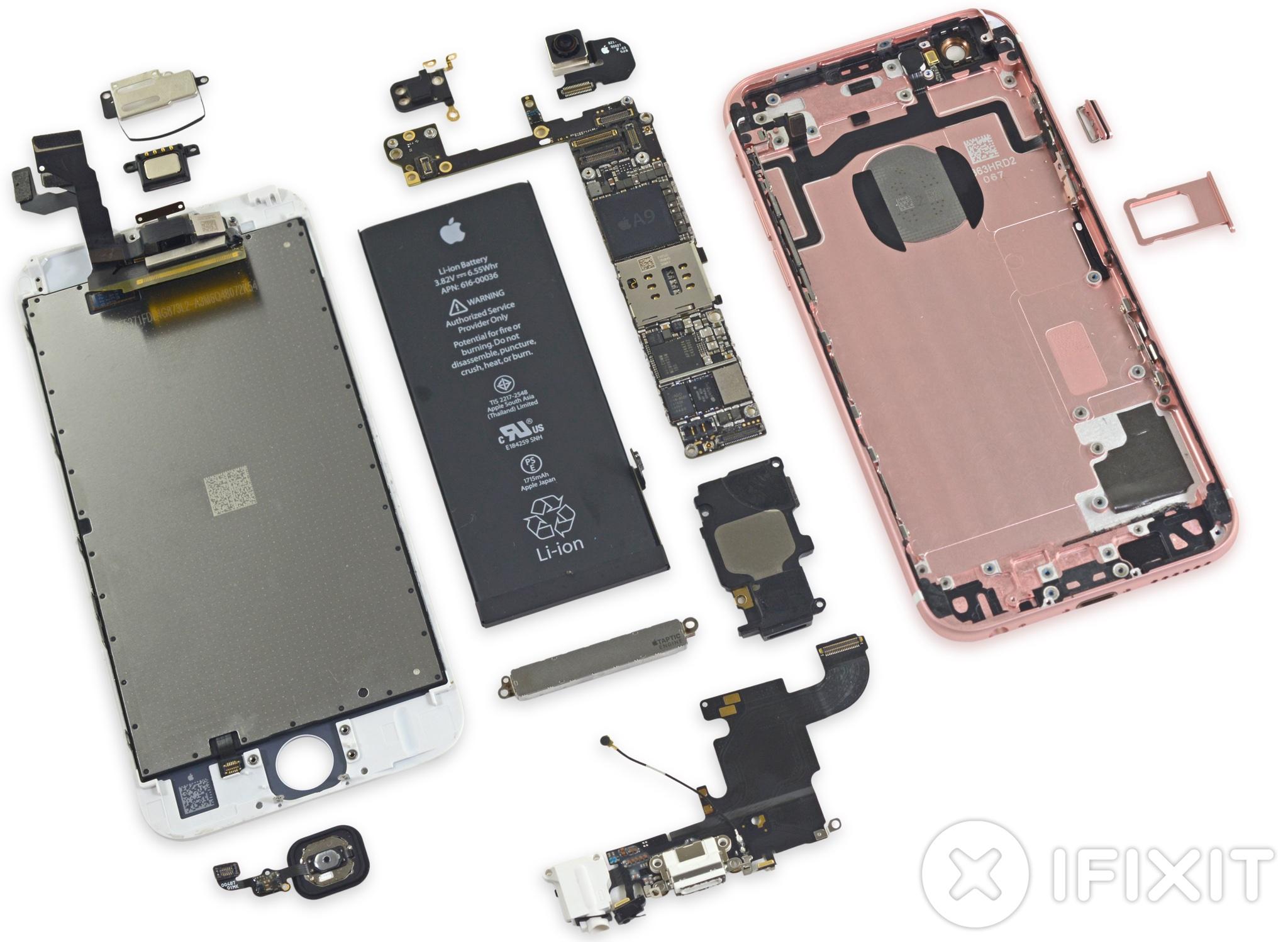 sports shoes 9e143 3bde4 iPhone 6s teardown: smaller battery, heavier display, fewer chips ...